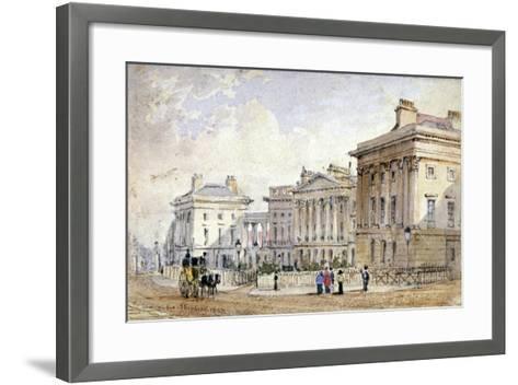 View of Clarence Terrace in Regent's Park, London, 1827-George Shepherd-Framed Art Print