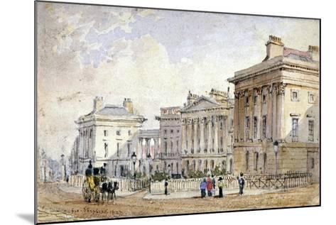 View of Clarence Terrace in Regent's Park, London, 1827-George Shepherd-Mounted Giclee Print