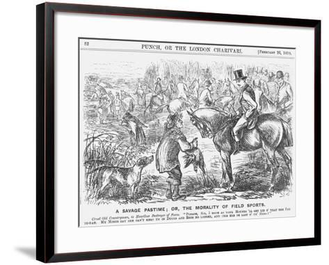 A Savage Pastime; Or, the Morality of Field Sports, 1870-Georgina Bowers-Framed Art Print