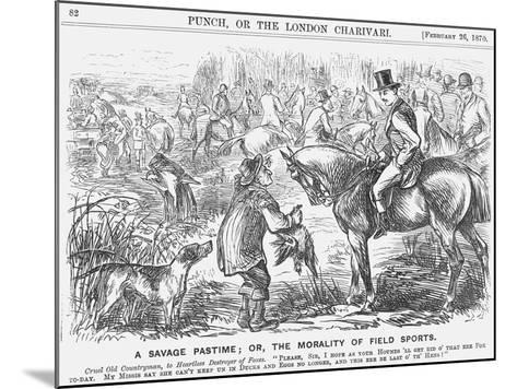 A Savage Pastime; Or, the Morality of Field Sports, 1870-Georgina Bowers-Mounted Giclee Print