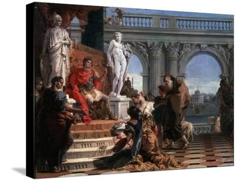 Maecenas Presenting the Arts to Augustus, 1743-Giovanni Battista Tiepolo-Stretched Canvas Print