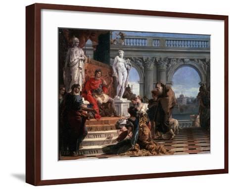 Maecenas Presenting the Arts to Augustus, 1743-Giovanni Battista Tiepolo-Framed Art Print