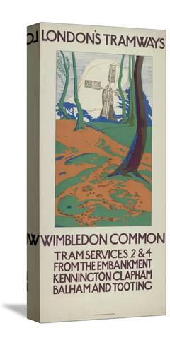 Wimbledon Common, London County Council (Lc) Tramways Poster, 1923-GW Widmer-Stretched Canvas Print