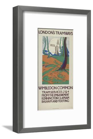 Wimbledon Common, London County Council (Lc) Tramways Poster, 1923-GW Widmer-Framed Art Print