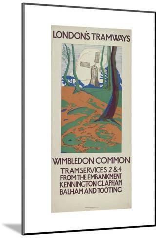 Wimbledon Common, London County Council (Lc) Tramways Poster, 1923-GW Widmer-Mounted Giclee Print