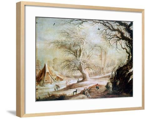 Winter Landscape, C1606-1656-Gysbrecht Leytens-Framed Art Print