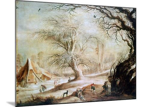 Winter Landscape, C1606-1656-Gysbrecht Leytens-Mounted Giclee Print