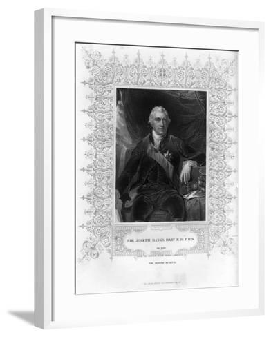 Sir Joseph Banks (1743-182), English Naturalist, Botanist and Science Patron, 19th Century-H Robinson-Framed Art Print