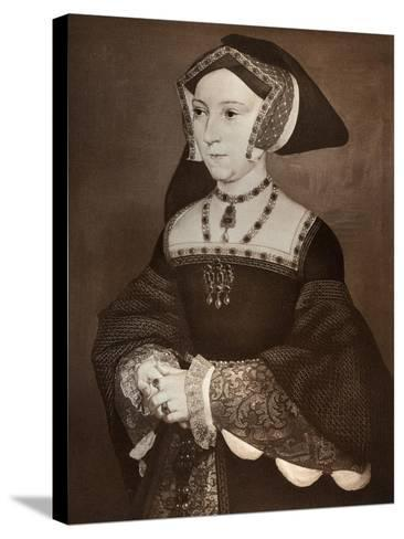 Jane Seymour, 1536-Hans Holbein the Younger-Stretched Canvas Print