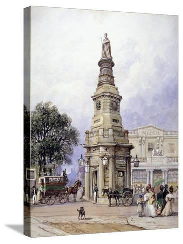 Monument to George Iv, Battle Bridge (Now King's Cros), London, 1835-George Sidney Shepherd-Stretched Canvas Print