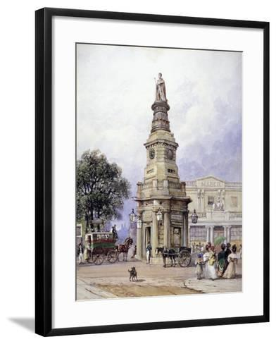 Monument to George Iv, Battle Bridge (Now King's Cros), London, 1835-George Sidney Shepherd-Framed Art Print