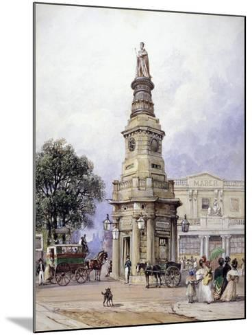 Monument to George Iv, Battle Bridge (Now King's Cros), London, 1835-George Sidney Shepherd-Mounted Giclee Print