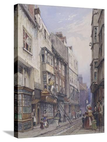 Bell Yard Near Chancery Lane, London, 1835-George Sidney Shepherd-Stretched Canvas Print