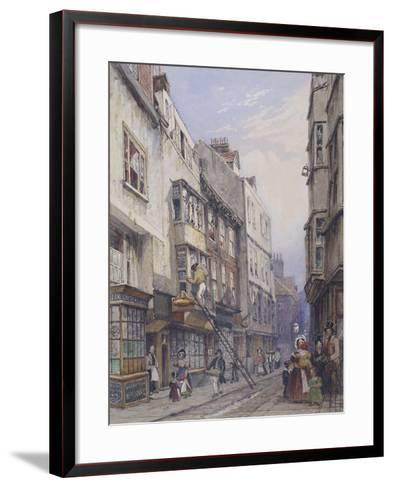 Bell Yard Near Chancery Lane, London, 1835-George Sidney Shepherd-Framed Art Print
