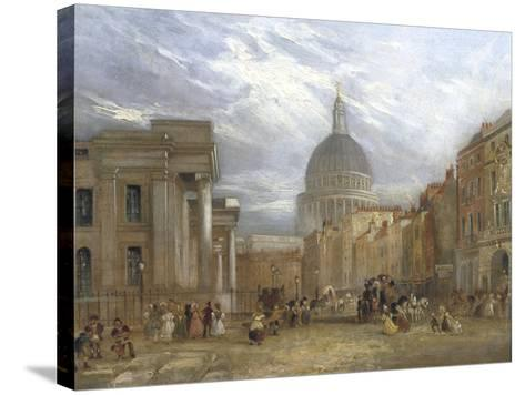 The Old General Post Office and St Martin's Le Grand, 1835-George Sidney Shepherd-Stretched Canvas Print