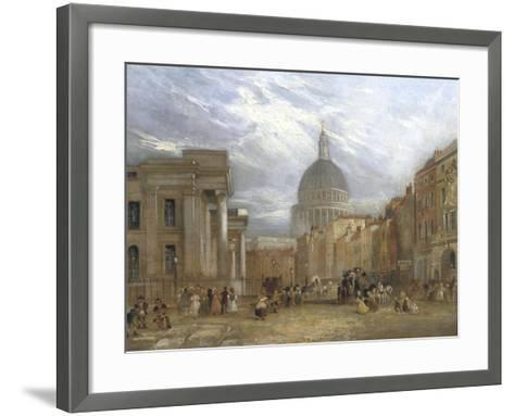 The Old General Post Office and St Martin's Le Grand, 1835-George Sidney Shepherd-Framed Art Print