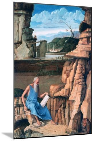 Saint Jerome Reading in a Landscape, C1480-1485-Giovanni Bellini-Mounted Giclee Print