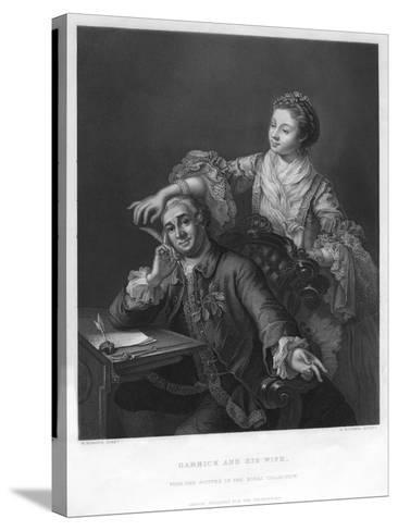 Garrick and His Wife, 1757-H Bourne-Stretched Canvas Print