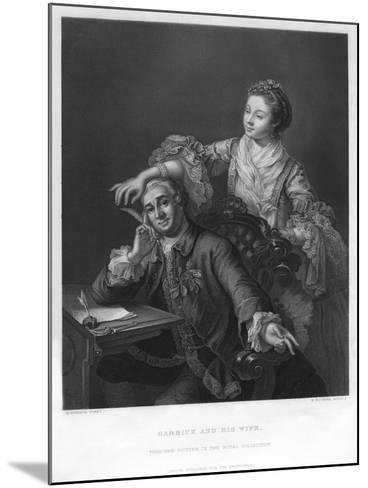 Garrick and His Wife, 1757-H Bourne-Mounted Giclee Print