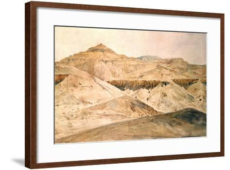 Vallee Des Tombeaux, Egypt, 19th Century-Hector Horeau-Framed Art Print