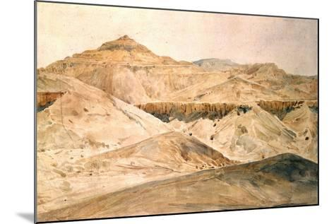 Vallee Des Tombeaux, Egypt, 19th Century-Hector Horeau-Mounted Giclee Print