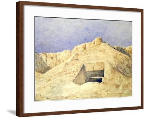Tomb of Ramesses I, C1820-1870-Hector Horeau-Framed Art Print