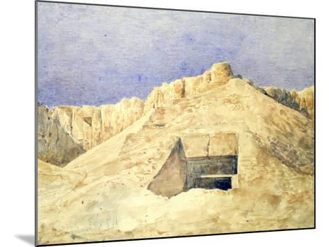 Tomb of Ramesses I, C1820-1870-Hector Horeau-Mounted Giclee Print