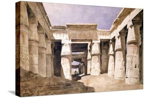 Temple De Khons, Karnack, Egypt, 19th Century-Hector Horeau-Stretched Canvas Print