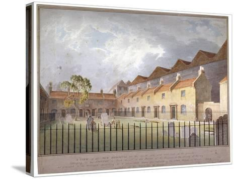 View of Buildings in Park Street, Southwark, London, 1808-George Smith-Stretched Canvas Print