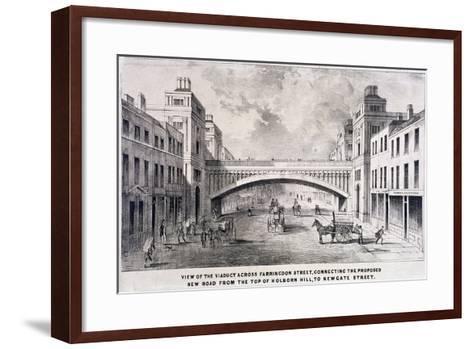 Holborn Viaduct, London, 1869-GS Willis-Framed Art Print
