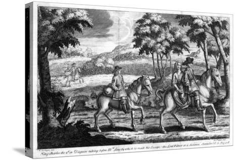 King Charles II Escaping from England, 1651- Gucht-Stretched Canvas Print