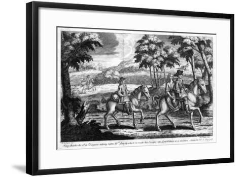 King Charles II Escaping from England, 1651- Gucht-Framed Art Print