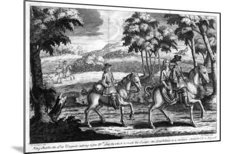 King Charles II Escaping from England, 1651- Gucht-Mounted Giclee Print
