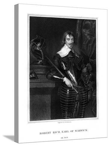 Robert Rich, 2nd Earl of Warwick, English Colonial Administrator-H Robinson-Stretched Canvas Print