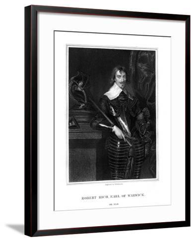 Robert Rich, 2nd Earl of Warwick, English Colonial Administrator-H Robinson-Framed Art Print