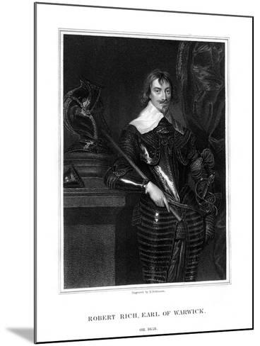 Robert Rich, 2nd Earl of Warwick, English Colonial Administrator-H Robinson-Mounted Giclee Print
