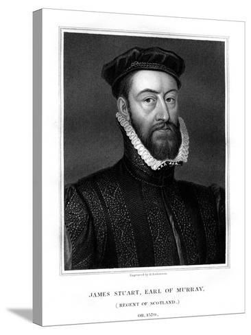 James Stewart, 1st Earl of Moray, Regent of Scotland-H Robinson-Stretched Canvas Print