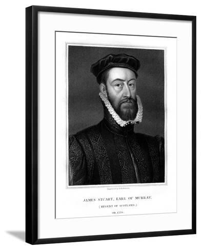 James Stewart, 1st Earl of Moray, Regent of Scotland-H Robinson-Framed Art Print