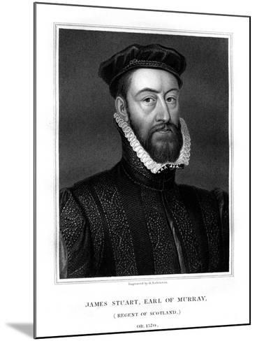 James Stewart, 1st Earl of Moray, Regent of Scotland-H Robinson-Mounted Giclee Print
