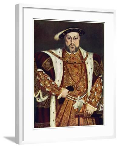 Henry VIII, C1517-1540-Hans Holbein the Younger-Framed Art Print