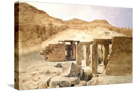 Le Rhamesseion, Egypt, 19th Century-Hector Horeau-Stretched Canvas Print