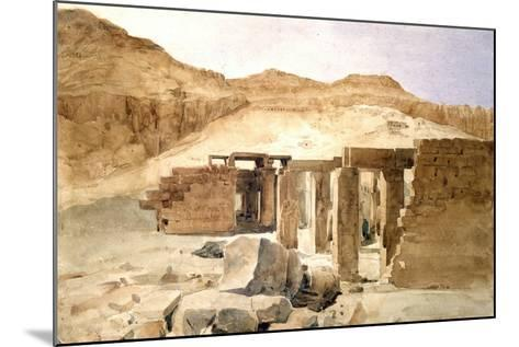 Le Rhamesseion, Egypt, 19th Century-Hector Horeau-Mounted Giclee Print