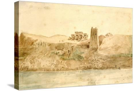 Kom Ombo, Egypt, 19th Century-Hector Horeau-Stretched Canvas Print