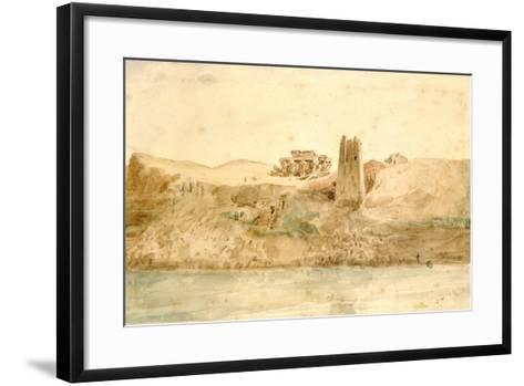 Kom Ombo, Egypt, 19th Century-Hector Horeau-Framed Art Print