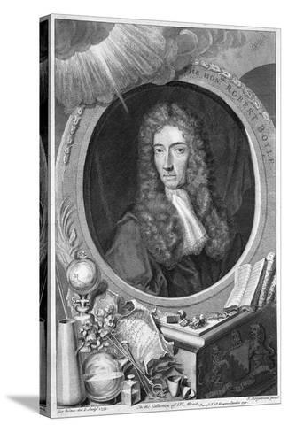 Robert Boyle, 17th Century Irish Chemist and Physicist, 1739-George Vertue-Stretched Canvas Print