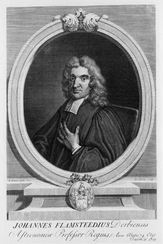 John Flamsteed, Astronomer, 1712-George Vertue-Stretched Canvas Print