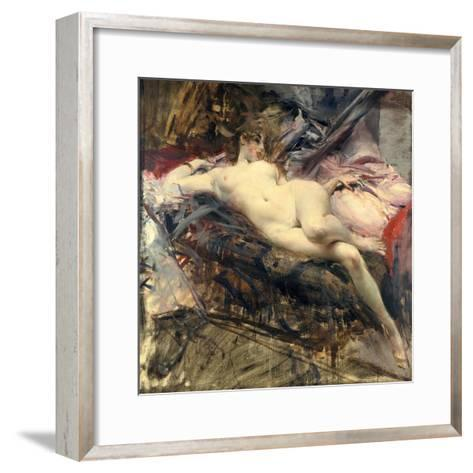 Reclining Nude, Late 19Th/Early 20th Century-Giovanni Boldini-Framed Art Print