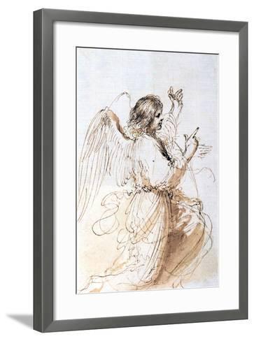 Study of an Angel, C1611-1666-Guercino-Framed Art Print