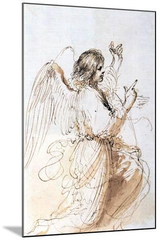 Study of an Angel, C1611-1666-Guercino-Mounted Giclee Print