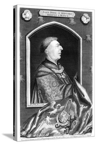 John of Lancaster, 1st Duke of Bedford-George Vertue-Stretched Canvas Print